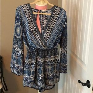 Beautiful blues romper